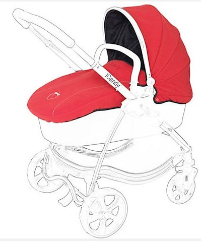 iCandy Strawberry Carrycot Flavour Pack - Pomegranate