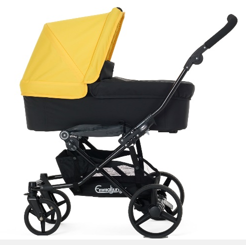 Emmaljunga - Viking - Yellow Carrycot Hood Fabric